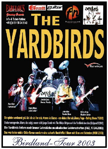 yardbirds tourflyer